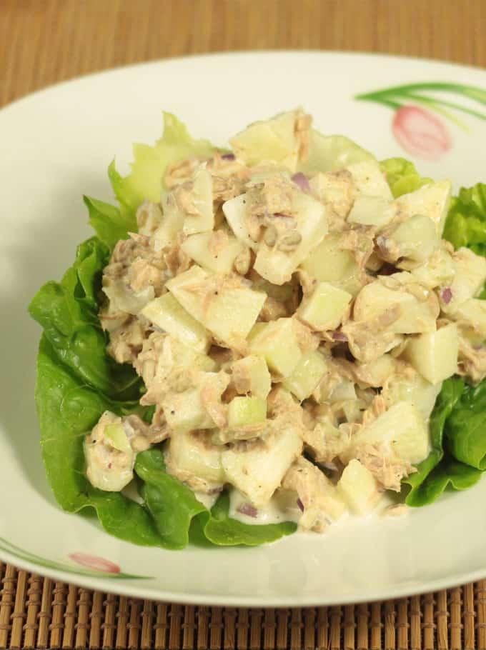 healthy tuna apple salad