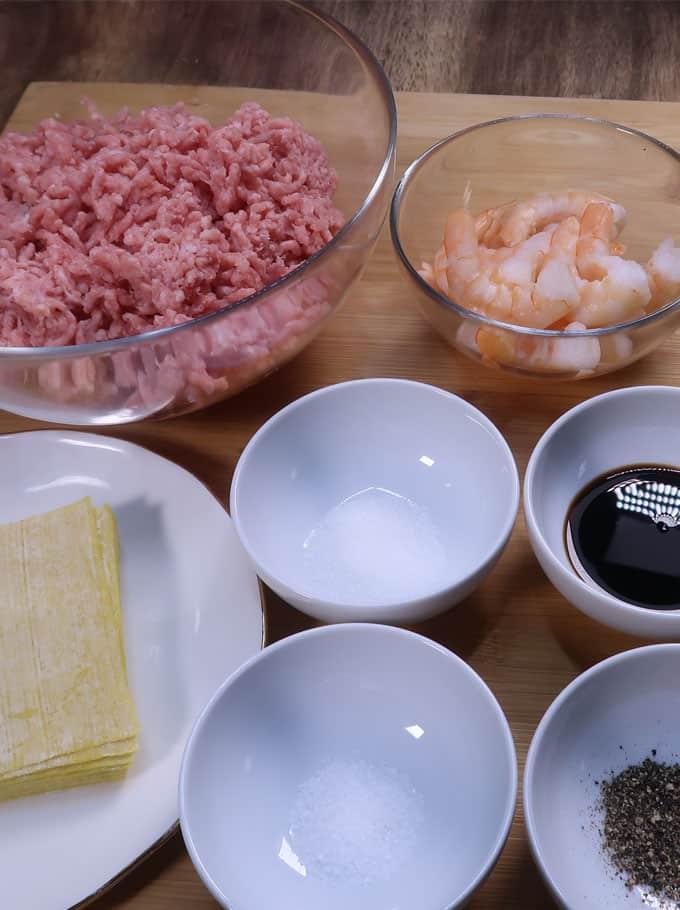 pork siomai ingredients