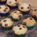 banana muffins with chocolate chips