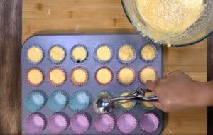 scoop the mixture
