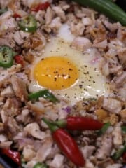 chicken sisig with egg