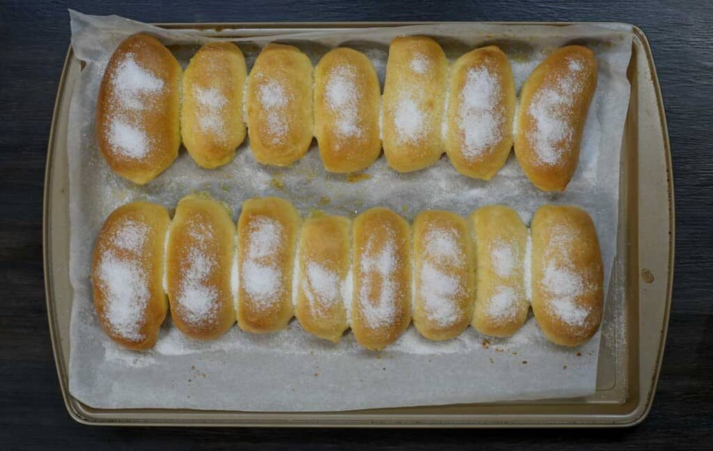freshly baked cheese roll bread