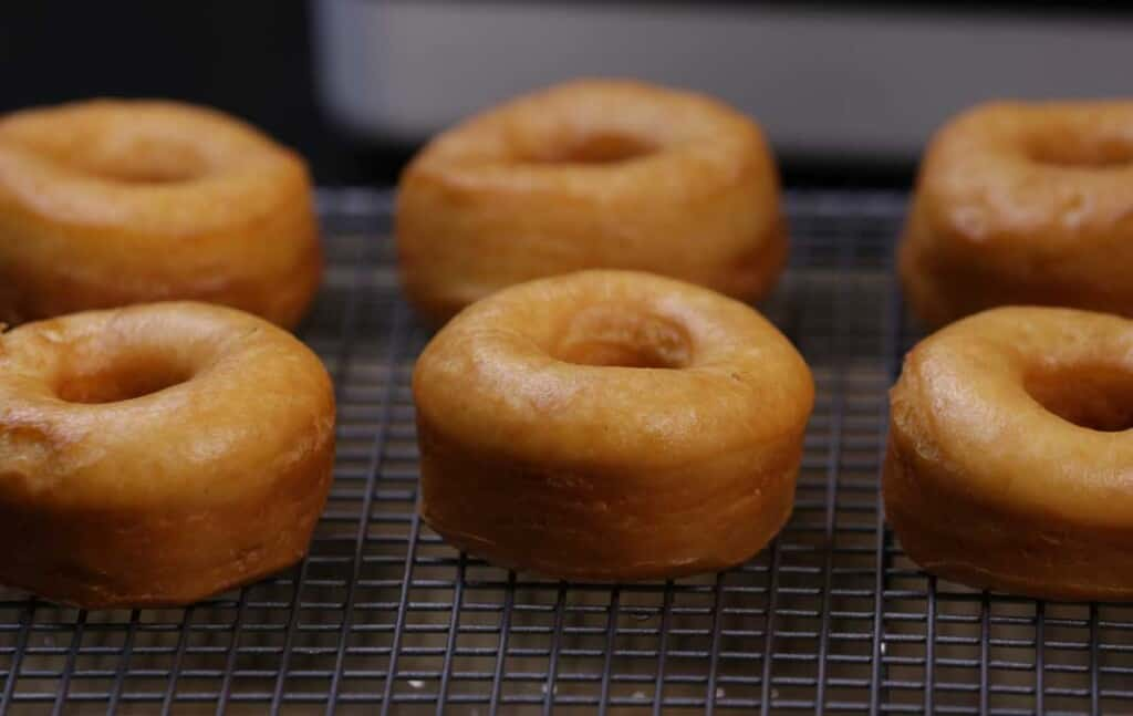 cooked homemade donuts