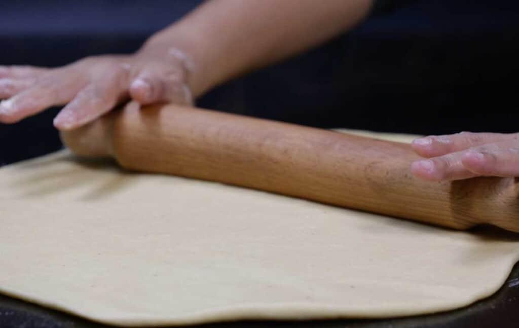 flatten the dough