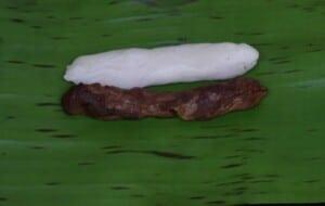 Form both mixture into a log