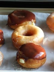 sugar glazed donuts and boston cream
