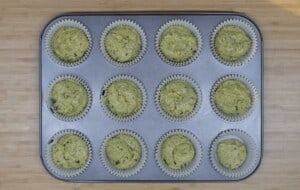 scoop into the cupcake pan
