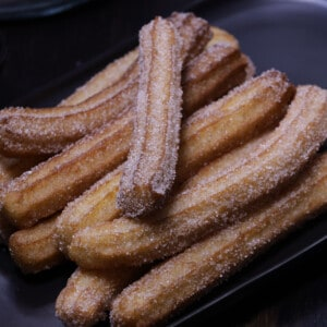 homemade eggless churros