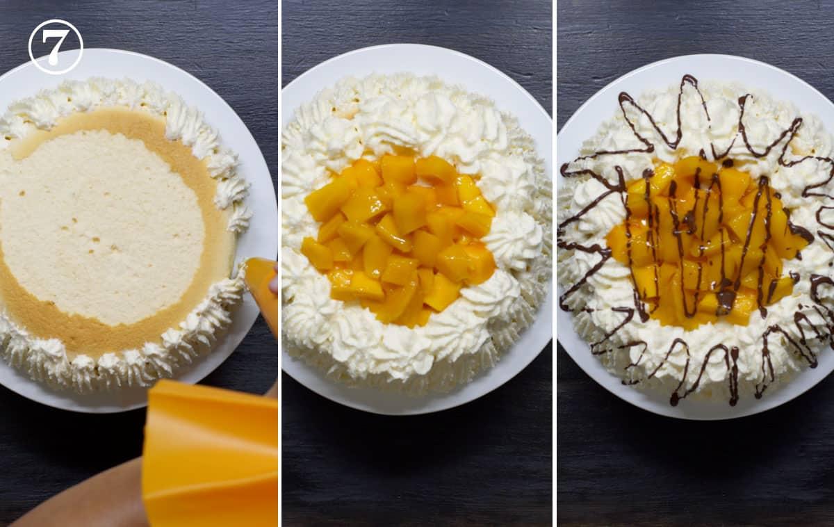 mango bravo cake assembly