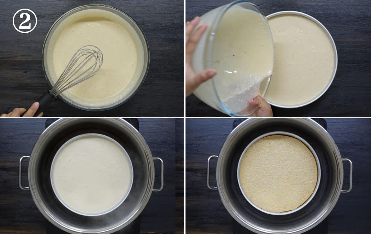step 2 - steam the mixture