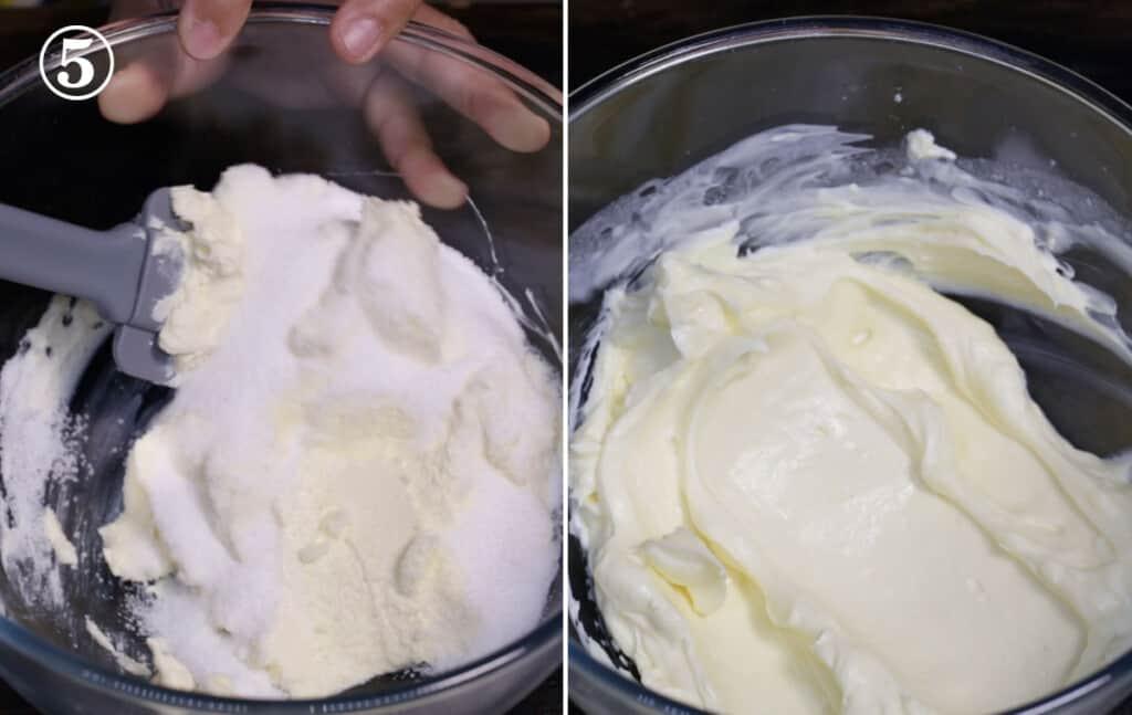 step 5 prepare the creamcheese