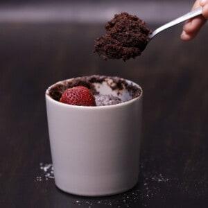 Microwave Lava Cake Featured Image