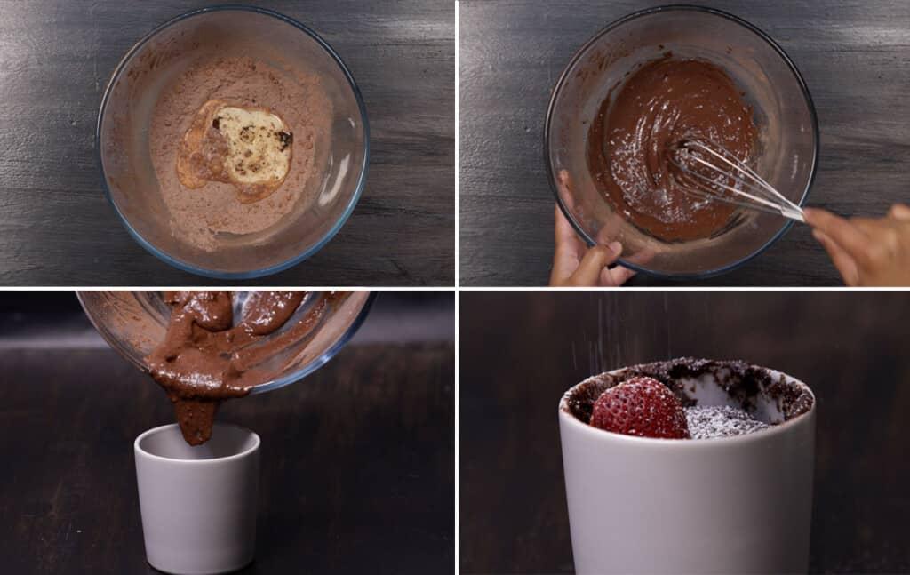 How to Make Microwave Lava Cake
